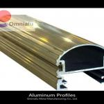 anodized extruded champagne Aluminium profile for Industry & Construction metal fabrication