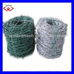 PVC coated barbed wire with 2.5mm core wire( manufacturer)-TYF