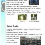 Brass rods, bars, hexagon, profiles-
