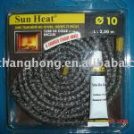 fiberglass insulation rope braided coated with graphite-