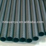 matte surface plain / twill weave carbon fiber tube 50mm 14mm-XYT