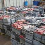 Drained Lead-Acid Battery Scrap-