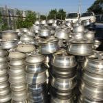 used auto parts aluminum wheel scrap container 12~17inchi
